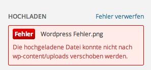 die hochgeladene datei konnte nicht nach wp-content uploads verschoben werden