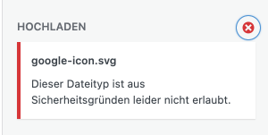 Dieser Dateityp ist aus Sicherheitsgründen leider nicht erlaubt.