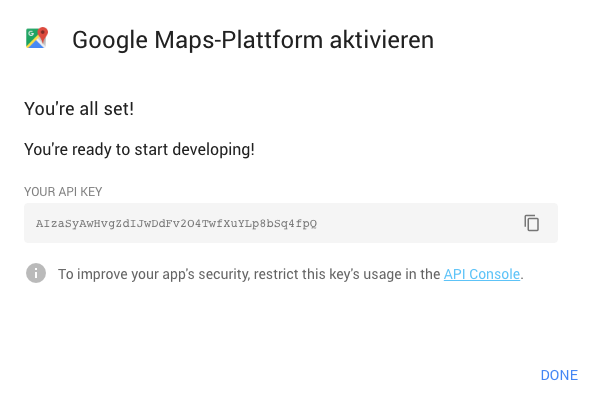 Google Maps API Key erstellen – revilodesign.de on