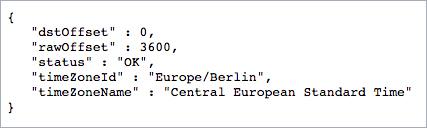 google maps timezone api berlin