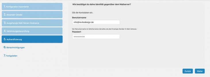 Step 4 - Benutzername und Passwort eingeben