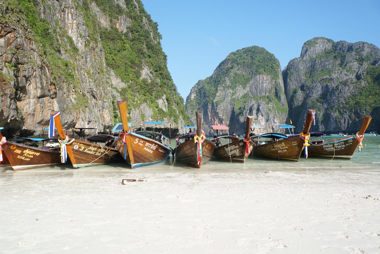 thailand maya beach longtail