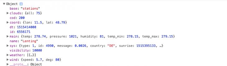 wetterdaten mit api auf in eigene webseite einbinden