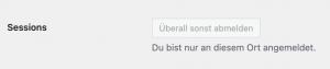 wordpress user sessions ueberall abmelden